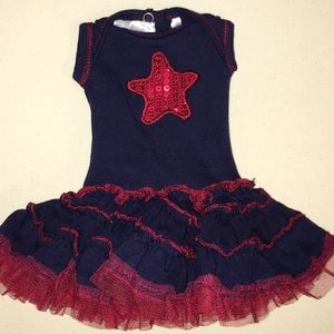 "Girls Blue Red Star 18"" Doll Outfit"